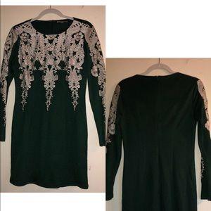 Gianni Bini Long-sleeve Mini Dress